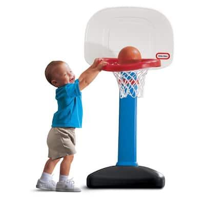TotSports Easy Score Adjustable Basketball Set with Round Backboard