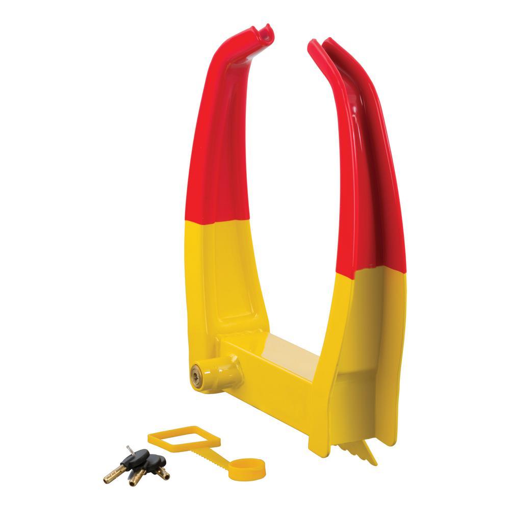Wheel Chock Lock (Yellow Powder Coat)
