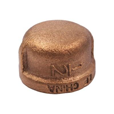 1/2 in. Red Brass Cap