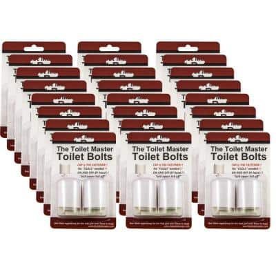 Tool-free Toilet Bolt and Cap System (24-Pack)