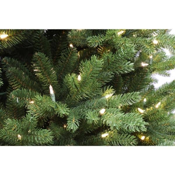 Puleo International 7 5 Ft Pre Lit Balsam Fir Majestic Artificial Christmas Tree With 800 Ul Listed Led Lights Bfm 75qf5lwf8 The Home Depot