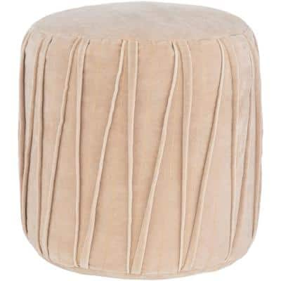 Cotilla Taupe Accent Pouf