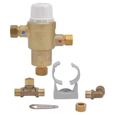 3/8 in. HG-145 Compact Brass Thermostatic Mixing Valve