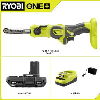 ONE+ 18V  Cordless 1/ 2 in. x 18 in. Belt Sander Kit with (1) 2.0 Ah Battery and Charger
