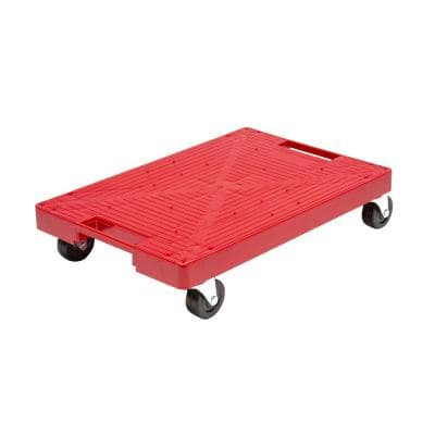 16 in. x 11 in. Multi-Purpose Red Garage Dolly/Caddy