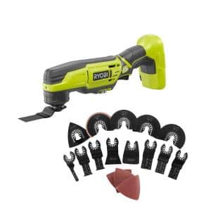 ONE+ 18V Cordless Multi-Tool (Tool Only) with 16-Piece Oscillating Multi-Tool Blade Accessory Set