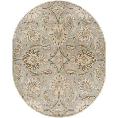 Vitrolles Gray 6 ft. x 9 ft. Oval Indoor Area Rug