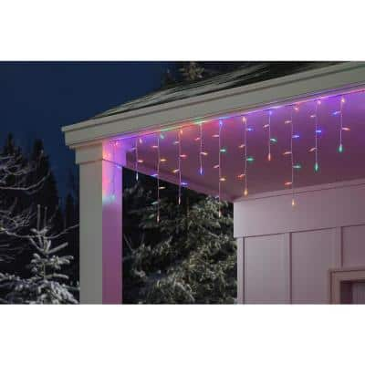 300 Light Super Bright Multi-Color LED Smooth Mini Constant On Icicle Light (Set of 2)