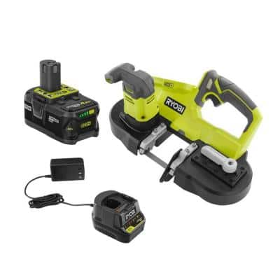 ONE+ 18V Cordless 2-1/2 in. Compact Band Saw Kit with (1) 4.0 Ah Lithium-ion Battery and 18V Charger