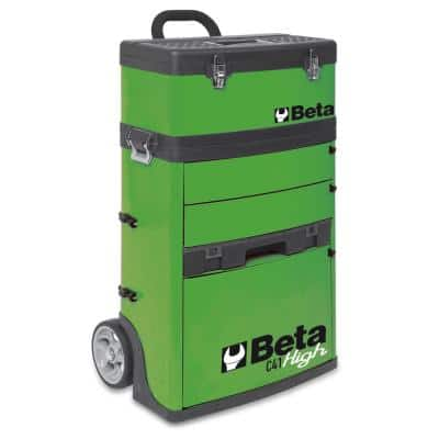 21 in. Utility Cart with 3 Slide-Out Drawers and Removable Top Box with Carry Handle in Green