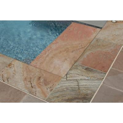 Porcini Gold 2 in. x 12 in. x 24 in. Travertine Pool Coping (15 Pieces / 30 Sq. Ft. / Pallet)