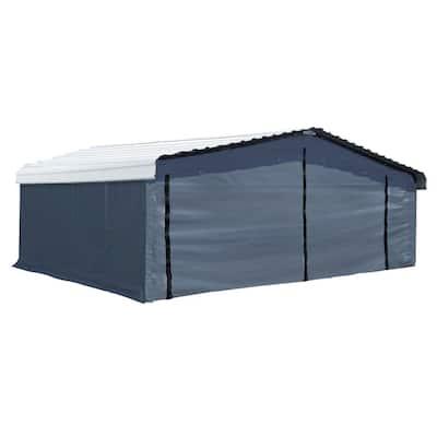 20 ft. x 20 ft. Fabric Carport Enclosure Kit