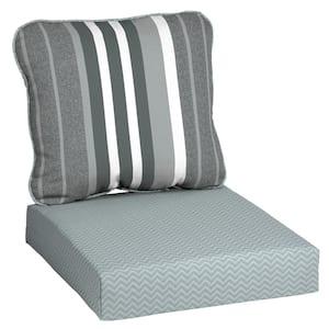DriWeave 24 x 22 Petersburg Stripe Deep Seating Outdoor Lounge Chair Cushion