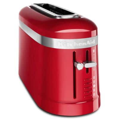 2-Slice Empire Red Long Slot Toaster with High-Lift Lever