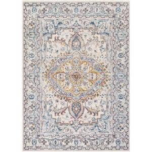 Fritha Dark Blue 5 ft. 3 in. x 7 ft. 3 in. Area Rug