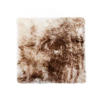 New Zealand Gradient Chocolate Sheepskin Chair Seat Cover