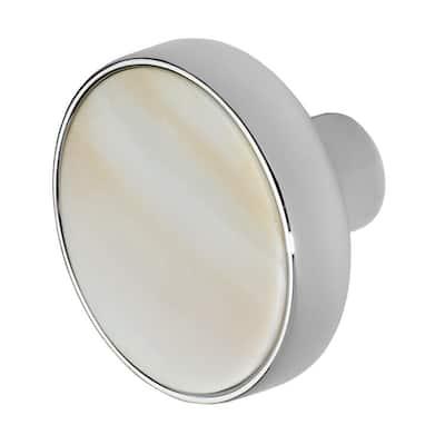 Pearl 1-3/8 in. Chrome Cabinet Knob