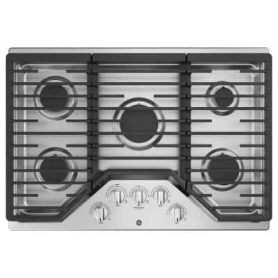 30 in. Gas Cooktop in Stainless Steel with 5 Burners Including Power Burners
