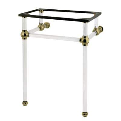 Templeton Acrylic Console Sink Legs in Brushed Brass