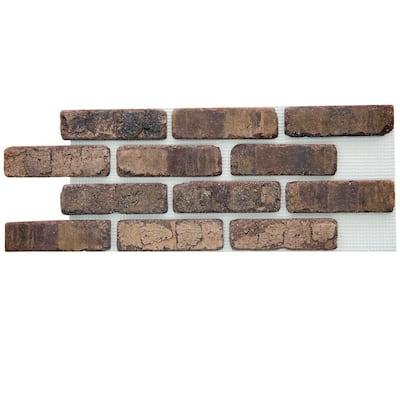 Brickwebb Cafe Mocha Thin Brick Sheets - Flats (Box of 5 Sheets) - 28 in. x 10.5 in. (8.7 sq. ft.)