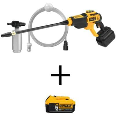 20-Volt Max 550 PSI, 1.0 GPM Cold Water Cordless Electric Power Cleaner with 20-Volt Max Lithium-Ion (1) 5.0 Ah Battery