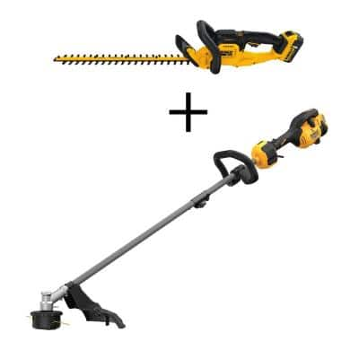 22 in. 20-Volt Max Lithium-Ion Cordless Hedge Trimmer Kit with 60-Volt Attachment Capable String Trimmer (Tool Only)