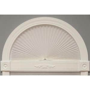 White Fabric Arch Window Shade - 72 in. W x 36 in. L
