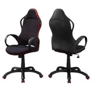 Jasmine 46'' in. Black and Red Office Chair