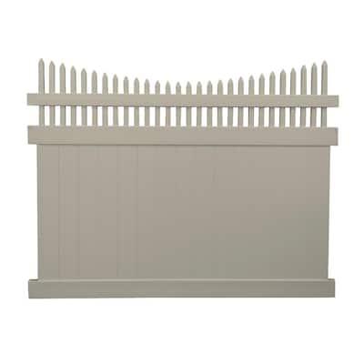 Halifax 6 ft. H x 8 ft. W Khaki Vinyl Privacy Fence PanelKit