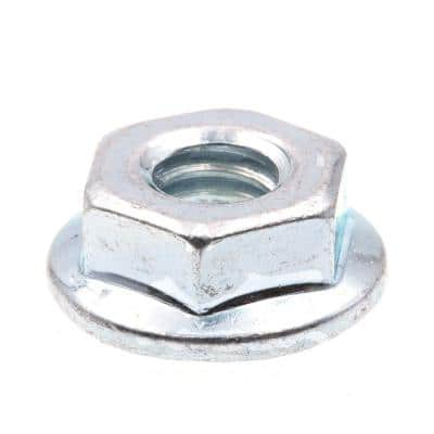 1/4 in.-20, Zinc Plated Case Hardened Steel Serrated Flange Nuts (25-Pack)