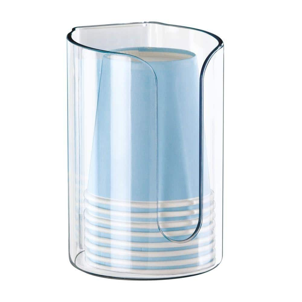 Interdesign Affixx Disposable Cup Dispenser In Clear 13231 The Home Depot