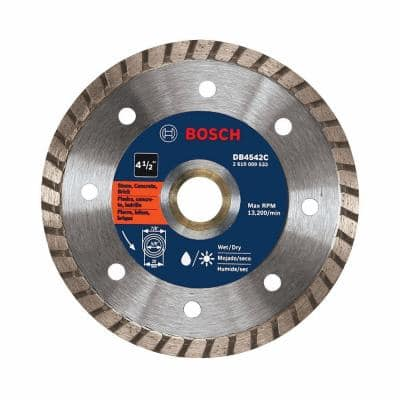 4-1/2 in. Small Angle Grinder Premium Turbo Rim Diamond Blade for Smooth Cut for Concrete and Masonry Materials