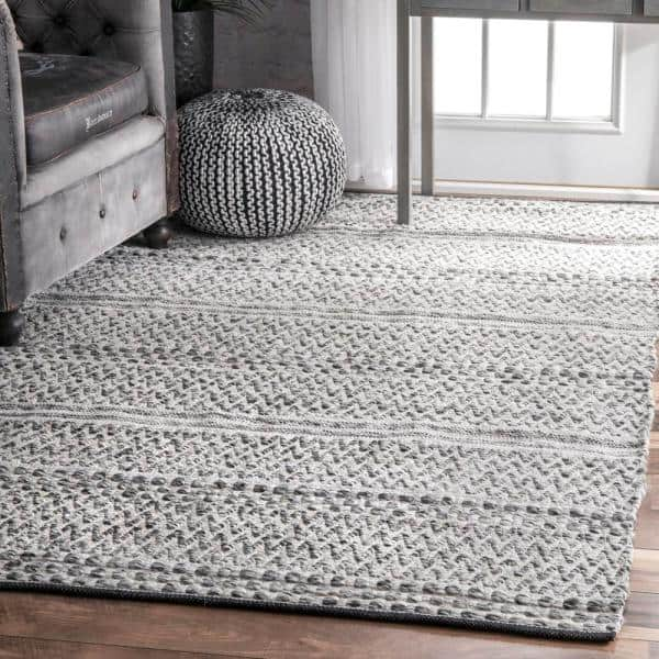 Nuloom Natosha Chevron Silver 5 Ft X 8 Ft Indoor Outdoor Area Rug Veme01a 508 The Home Depot