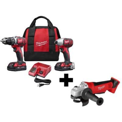 M18 18-Volt Lithium-Ion Cordless Drill Driver/Impact Driver Combo Kit (2-Tool) with 2 Batteries and 4-1/2 in. Grinder