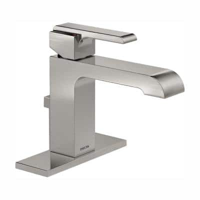 Ara Single Hole Single-Handle Bathroom Faucet with Metal Drain Assembly in Stainless