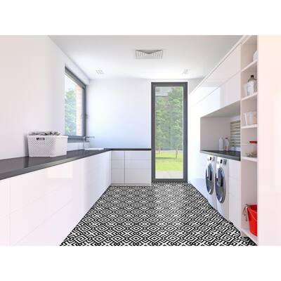 Retro Geometric 12 in. x 12 in. Self-Adhesive Vinyl Floor Tile (20 Tiles/20 sq. ft.)
