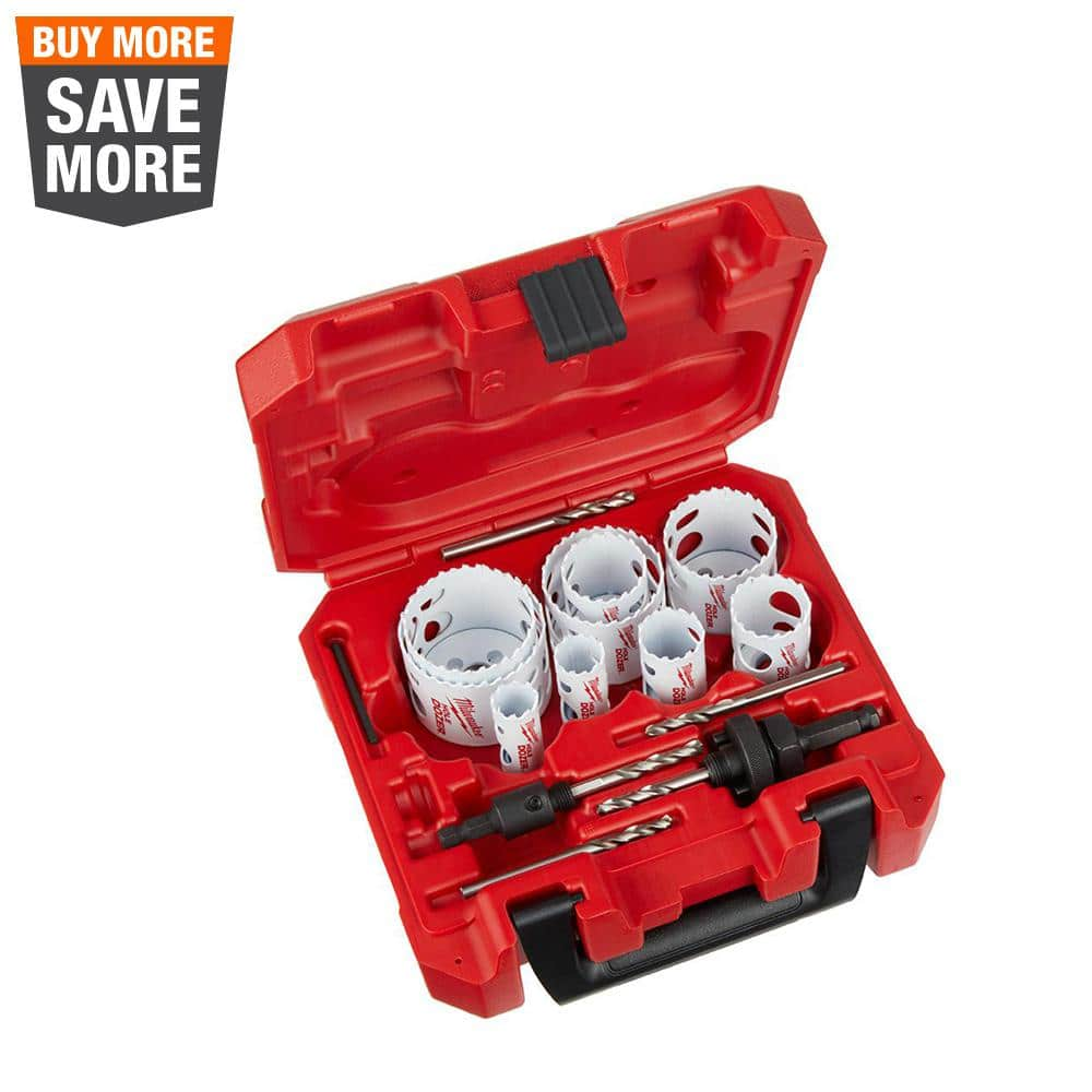 17Pc HOLE SAW CUTTER SET Round//Circular Drill Cutting Case Kit Metal//Alloy//Wood