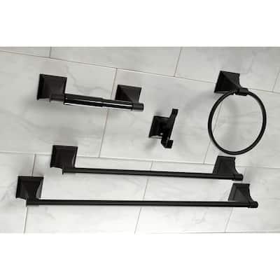 Monarch 5-Piece Bathroom Accessory Set in Black