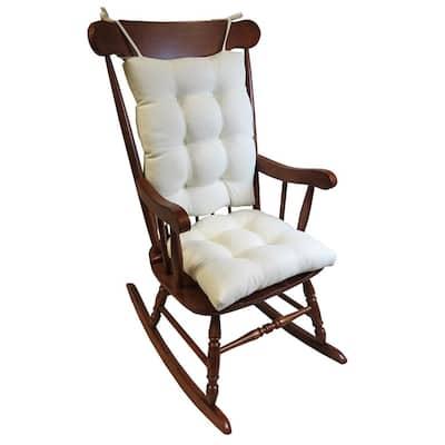 Gripper Omega Ivory Jumbo Rocking Chair Cushion Set