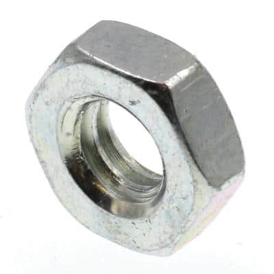 1/4 in.-20 A563 Grade A Zinc Plated Steel Hex Jam Nuts (100-Pack)