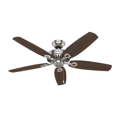 Builder Elite 52 in. Indoor Brushed Nickel Ceiling Fan