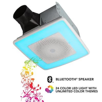 ChromaComfort 110 CFM Ceiling Bathroom Exhaust Fan with Sensonic Stereo Bluetooth Speaker