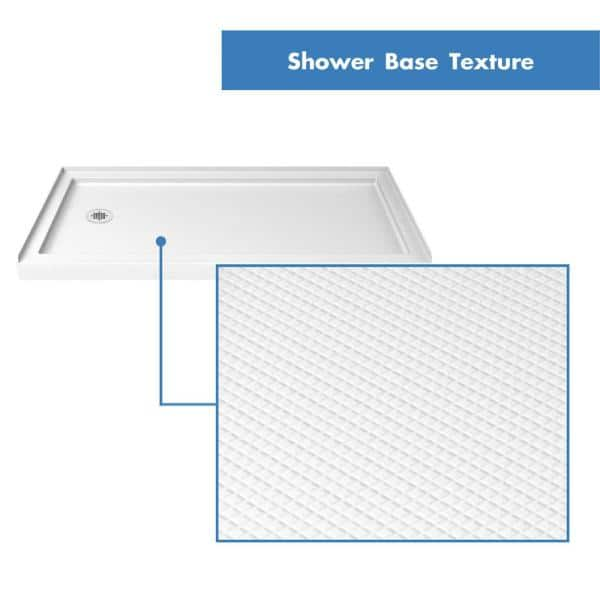 Dreamline Infinity Z 30 In X 60 In Semi Frameless Sliding Shower Door In Brushed Nickel With Left Drain Base And Back Wall Dl 6116l 04cl The Home Depot