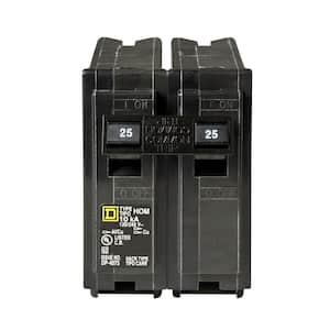 Homeline 25 Amp 2-Pole Circuit Breaker
