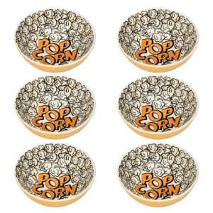 Full Bowl 20.29 oz. Yellow and Black Earthenware Soup Bowls (Set of 12)