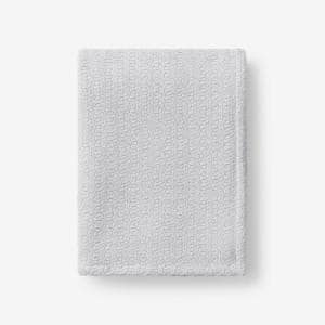 Organic Cotton Gray Solid Woven Throw Blanket