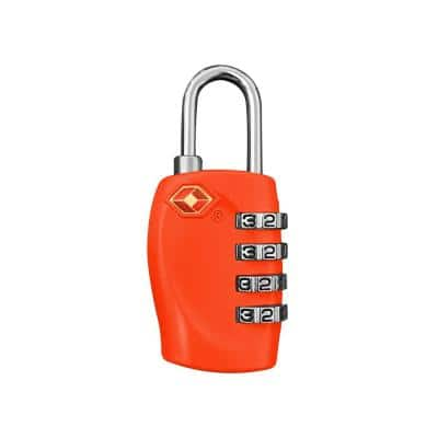4 Digit Combination Padlock in Red - TSA Approved