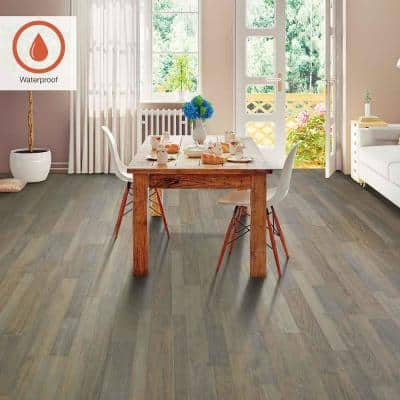 Outlast+ 7.48 in. W Sedona Taupe Oak Waterproof Laminate Wood Flooring (16.93 sq. ft./case)