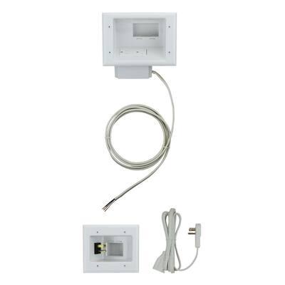 Flat Panel TV Cable Organizer Kit