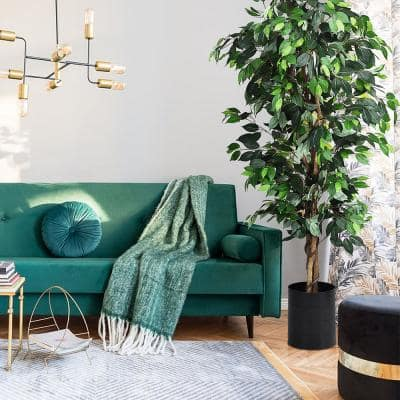 6 ft. Artificial Ficus Silk Tree Home Living Room Office Decor Wood Trunks